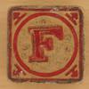Vintage Wooden Block Letter F