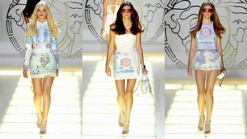 2012 Versace 春夏米蘭時裝週1