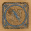 Vintage Wooden Block Letter N