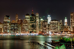 Brooklyn-view-NYC-nightscape-HDR - Explore 10/25/2011 photo by Laurie2123