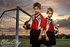 soccer portraits - brothers photo by Trask Smith (Blue City Photography)