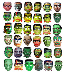 36 Frankenstein Type Monster Masks 013331 photo by Brechtbug