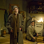 William J. Norris (Davies) and Anish Jethmalani (Aston) in THE CARETAKER.  Photo by Michael Brosilow.