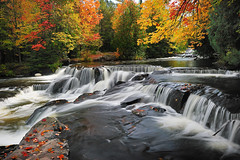 """Leaves on the Stream""  Bond Falls -  Paulding , Michigan photo by Michigan Nut"