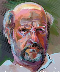 Digital Color Portrait Study of Gringovitch (Dan Harris) - xxxi.x.xi - for jkpp photo by Clyde Semler