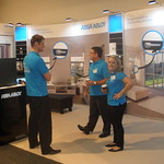 Assa Abloy Auckland Homeshow Techstyle Exhibition stand using fabric graphics in the back wall