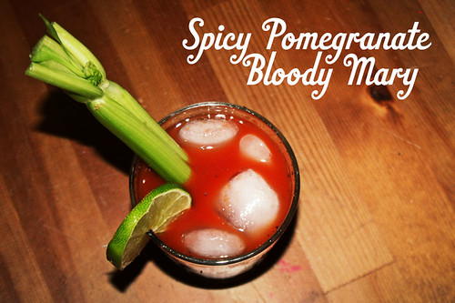 Spicy Pomegranate Bloody Mary