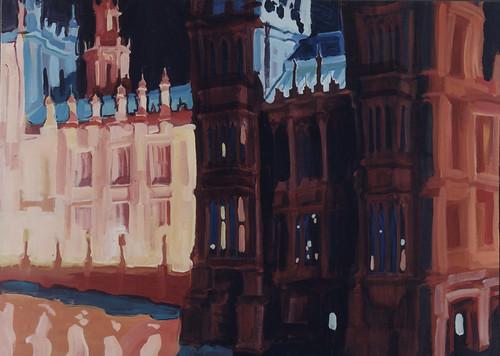 'Westminster' Acrylic on board, 102x140cm