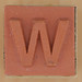 Rubber Stamp Letter W