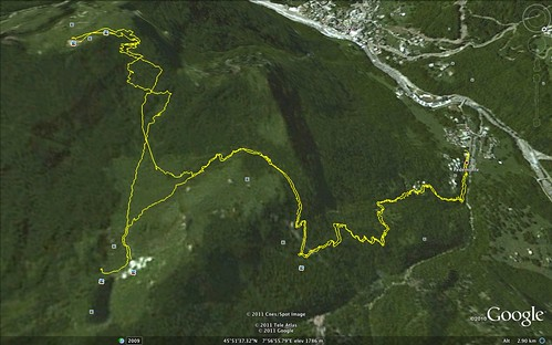 Alpe Campo e Sattal vista da Google