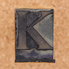 rubber stamp letter K