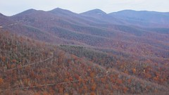 That thin line is the Blue Ridge Parkway