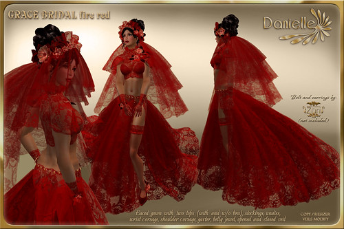 DANIELLE Grace Bridal Fire Red