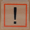 Rubber Stamp exclamation mark