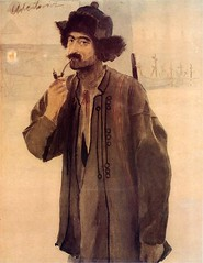 Axentowicz, Teodor (1859-1938) - 1888 Self-Portrait in Hutsul Garb (Private Collection) photo by RasMarley