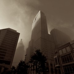 Fog on Carew Tower at dawn photo by durand clark