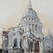 St Pauls; Pastel and chalk on paper; 64x52cm