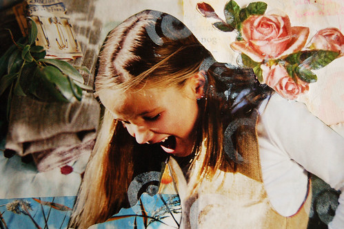 Happy girl - detail of collage
