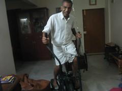 Natarajan thatha exercising