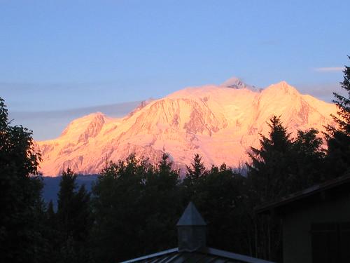 le mont blanc a la bonne heure