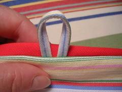 loop sewn in