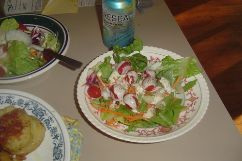 Bag Salad and Fresca