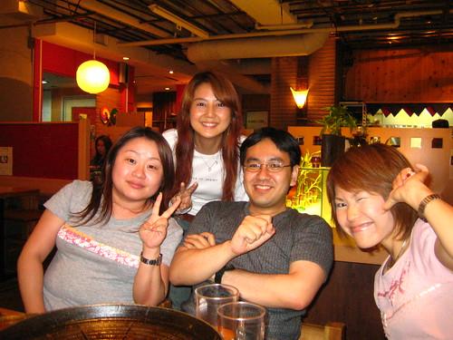 yamamoto-san, me, takahashi-san, araki-san