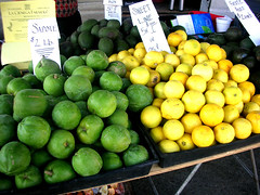la cienega farmers' market chayote and persian lemons
