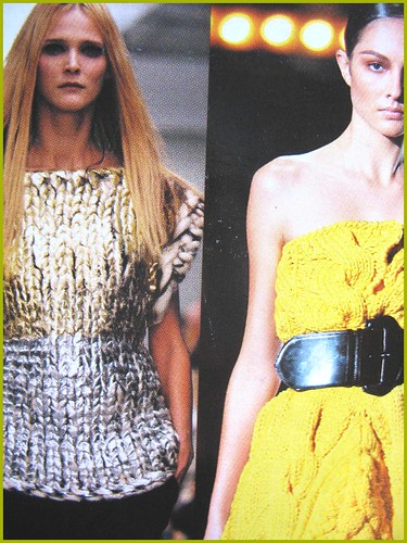 closeup of knitwear in fashion scrapbook
