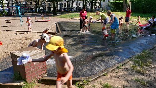 Spielplatz Rostocker, Ecke Danziger Straße in Hamburg Sankt Georg.