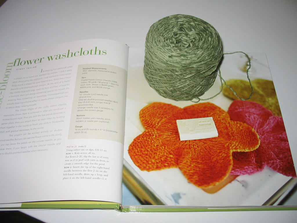 Flower Washcloth plan