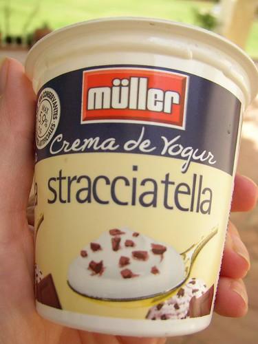 crema de yogur stracciatella