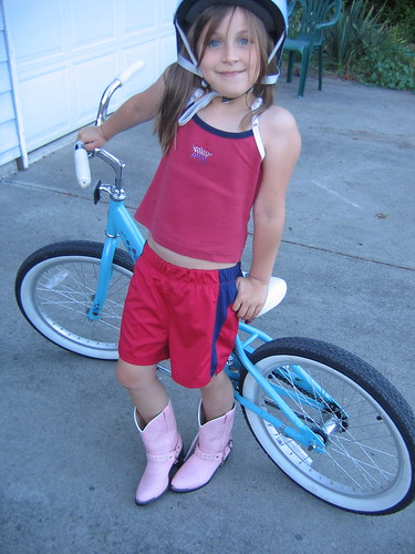 Kyleigh's bike riding outfit.