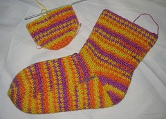 Crochet Socks in Progress