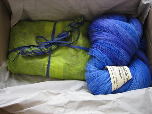 Rohrspatz&Wollmeise parcel arrived!