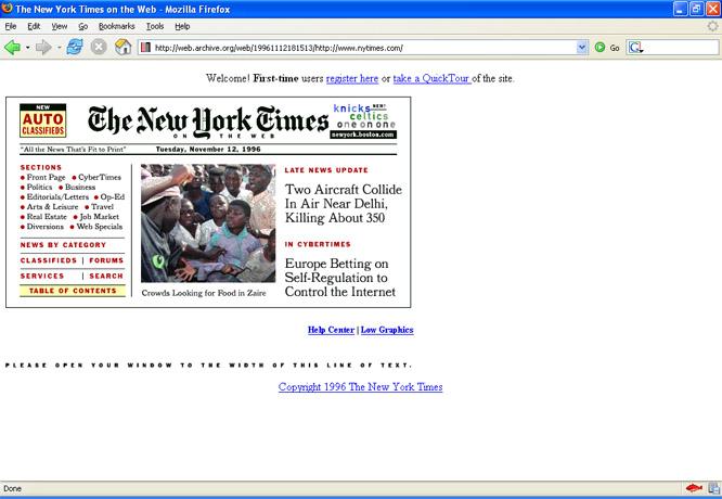 NY Times en 1996