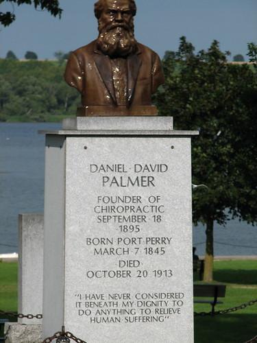 D.D. Palmer Monument