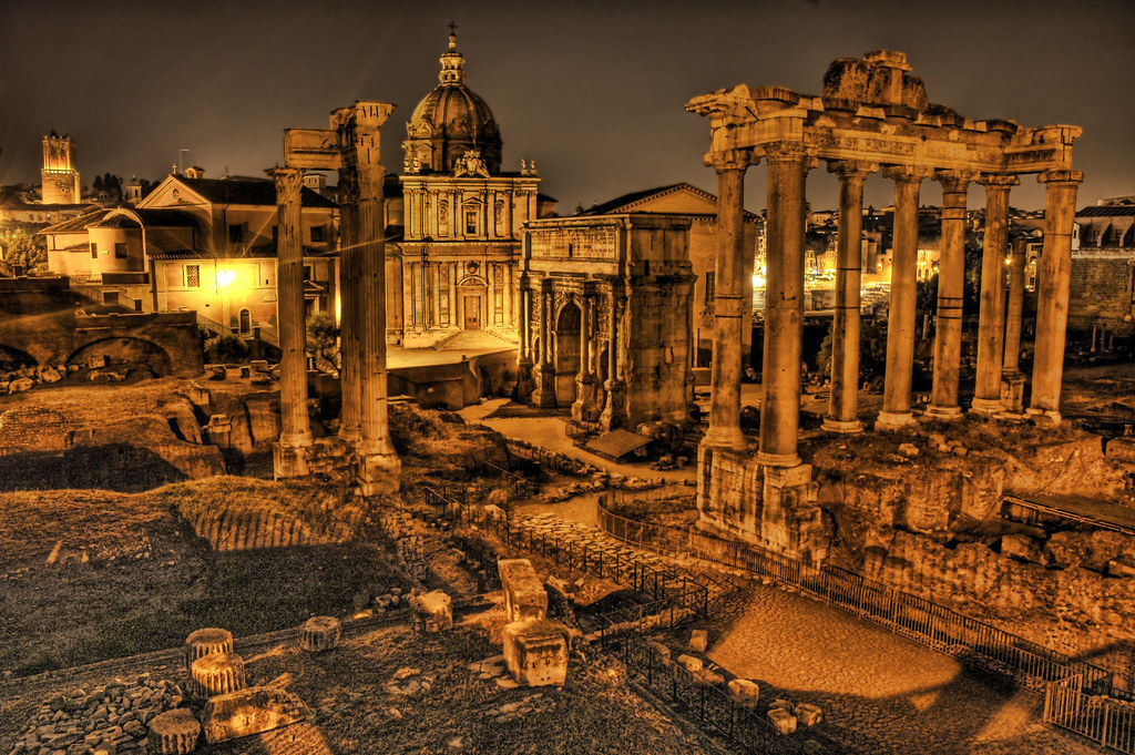 The Ruins after Dark