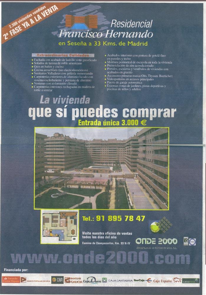 Contraportada de La Voz De La Sagra - 21 de julio de 2006