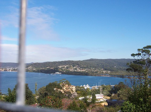 Point Clare & TS Hawkesbury from John Whiteway Drive Gosford