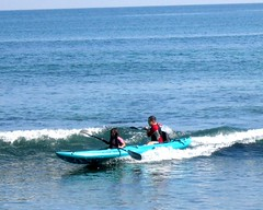 Ocean kayaking at Malibu
