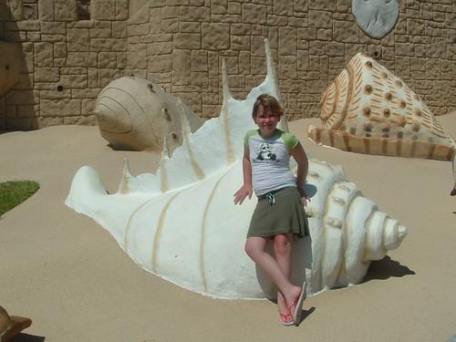 Amanda on the seashell