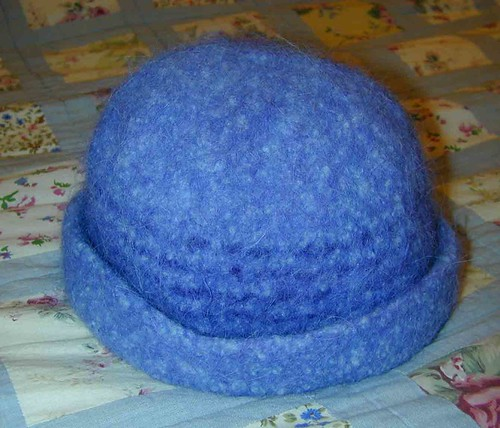 Felted Blue Hat