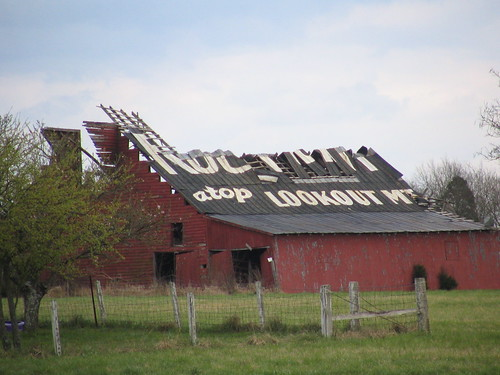 crumbling rock city barn
