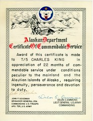 Certificate of Commendable Service