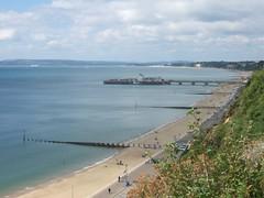 Beach-line and pier