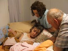 Grandma and Grandpa Danner with Cora