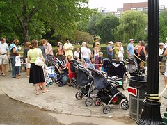 Long line and strollers