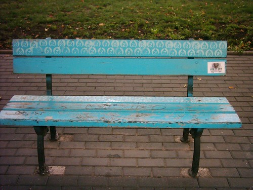 Bench with decoration