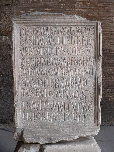 Colosseum inscription dated AD 484